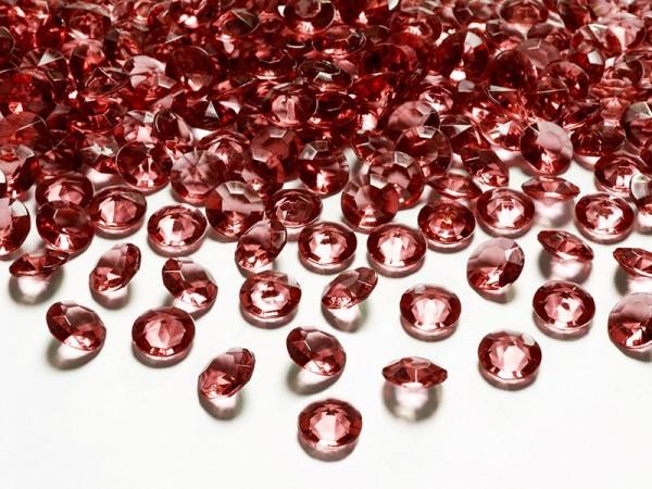 100 Streudeko Diamanten weinrot 1,2cm