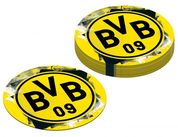 12 posavasos de papel BVB Dortmund 10,7cm