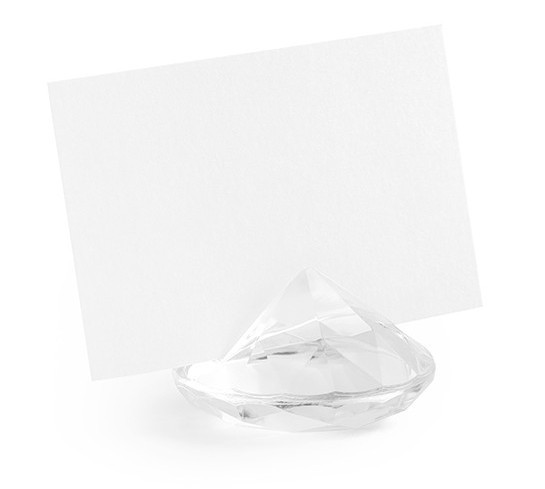 10 diamonds card holder transparent 4cm