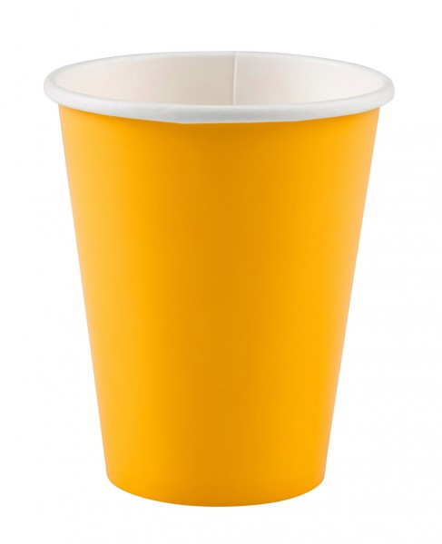 8 Party Buffet Paper Cups Sun Yellow 266ml