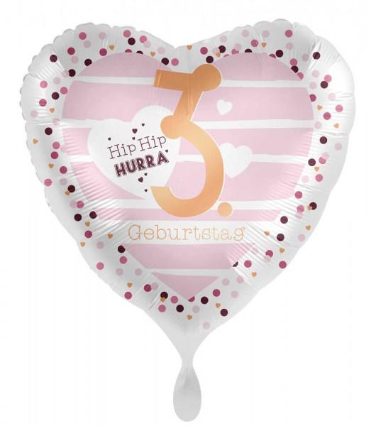 3. Geburtstag Herz Folienballon 45cm