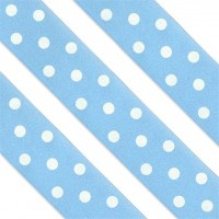 Blau gepunktetes Tortenband 1m