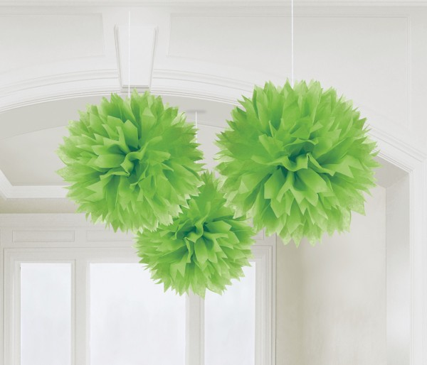 3 Romance pompoms light green
