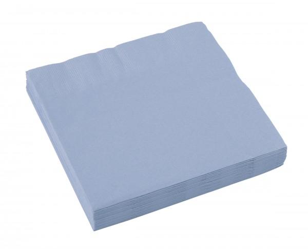 20 servietter 33 x 33 pastellblå
