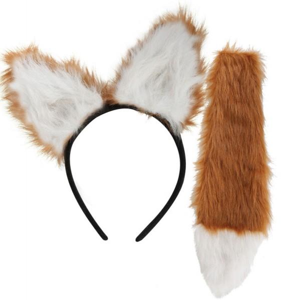 Set van 2-delige accessoires voor vossenkostuums