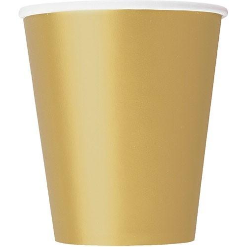 8 papierowych kubków Vera gold 266 ml