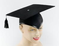 Schwarze Doktoranten Kappe