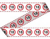 Verkehrsschild 18 Absperrband 15m