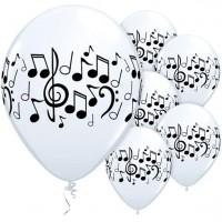 5 Musiknoten Luftballons Klangkonzert 28cm
