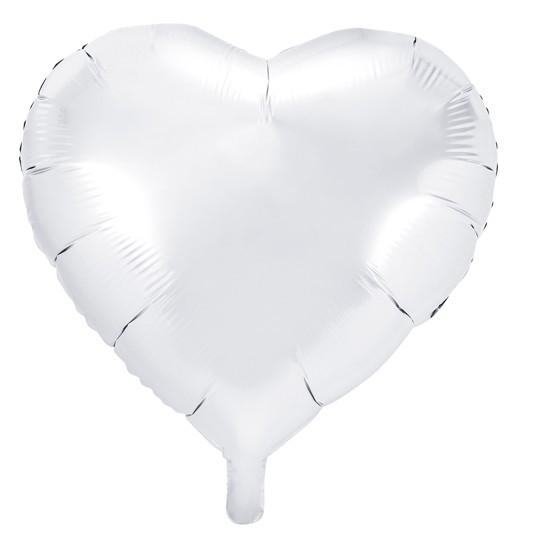 Ballon aluminium Herzilein blanc 45cm
