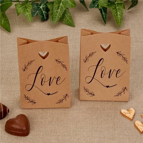 10 Geschenktüten nature love