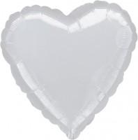 Silberner Herzballon 46cm