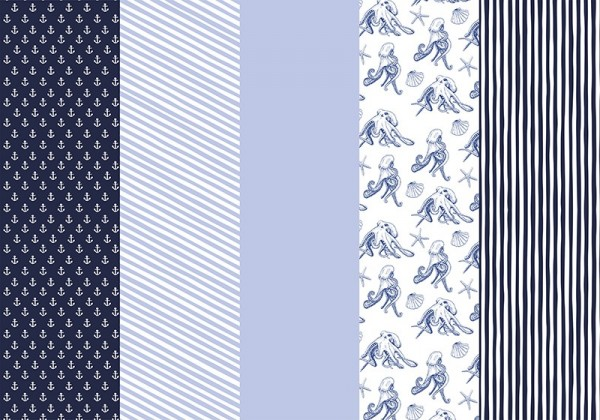 50 flans de papier d'emballage Ahoy 68,5 x 100 cm