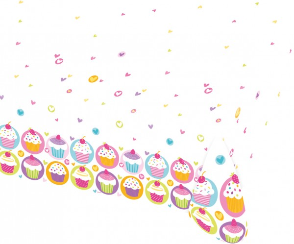 Nappe Cupcake Party 1,8 x 1,2m