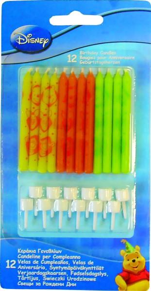 12 Birthday Winnie Puuh Tortenkerzen 6cm