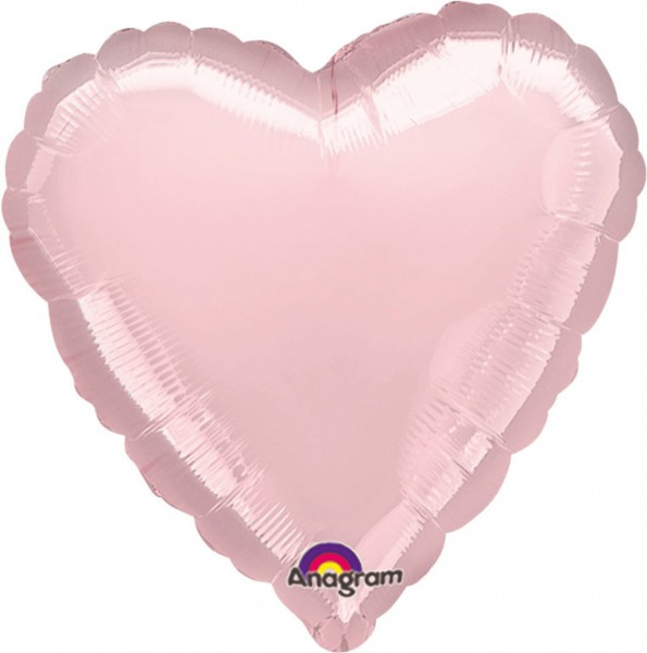Heart balloon Linda in light pink