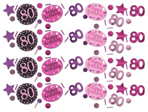 Pink 80th Birthday Streudeko 34g