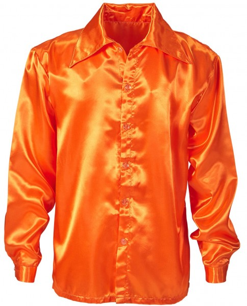 Camicia in look seta Johnny Orange