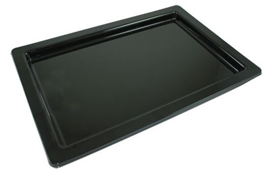 Black Serving Plate Uranus 36 x 24cm
