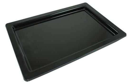 Czarny talerz do serwowania Uranus 36 x 24 cm
