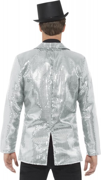 Veste à sequins Party Glamour Argent