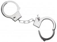 Silberne Polizei Handschellen