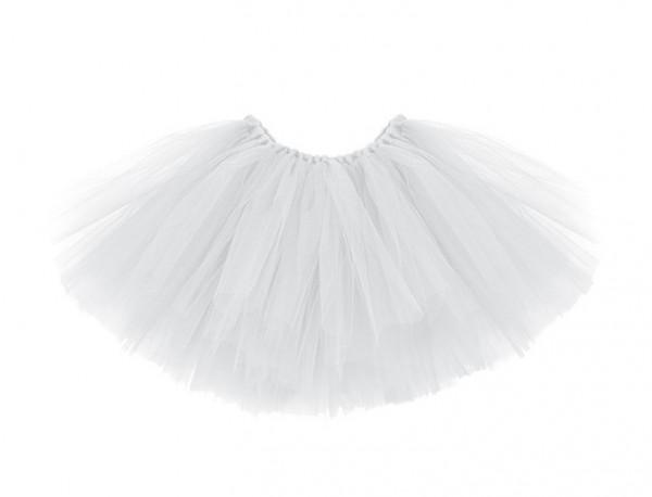 Tutu in tulle bianco con circonferenza vita fiocco 60 cm