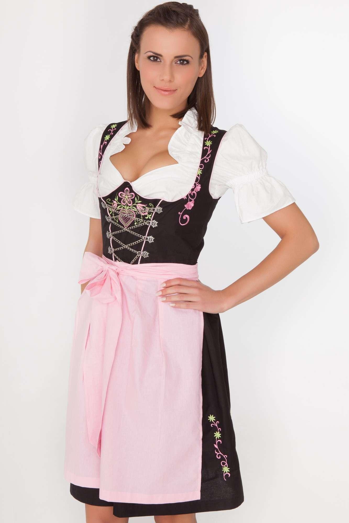 Lisa Midi Dirndl black-pink