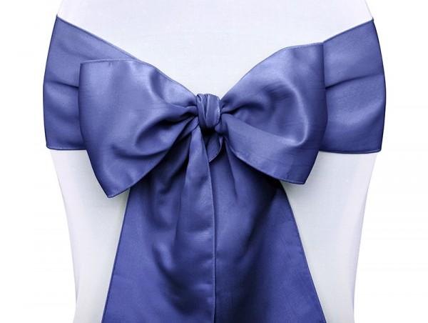 10 Satin Schleifenbänder für Stühle blau 15x275 cm 1