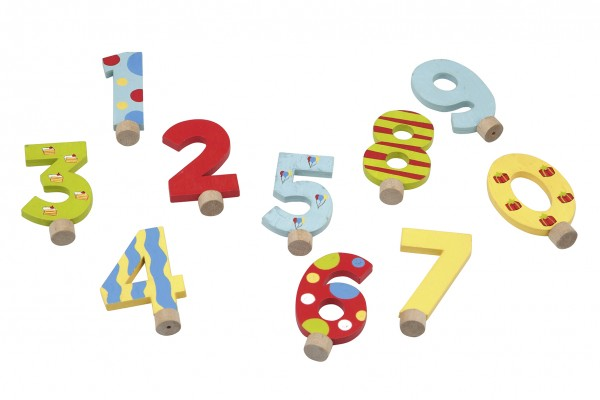 Wooden birthday numbers set 0-9
