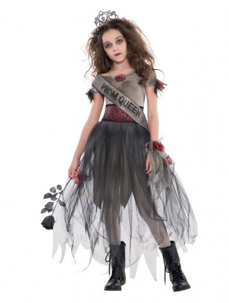 Prom Night Queen Zombie Child Costume