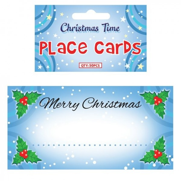 50 Christmas place cards 9cm x 5cm