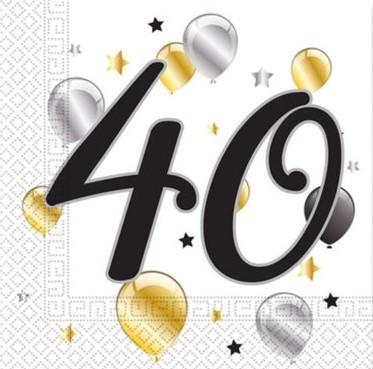 20 servilletas Milestone 40 33cm