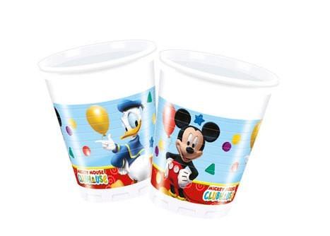 8 Mickeys Clubhouse Kunststoffbecher 200ml