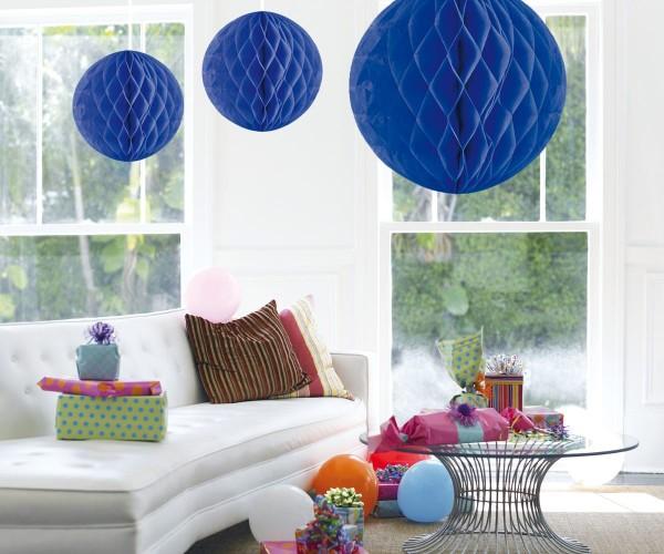 Honigwaben Ball blau 50cm