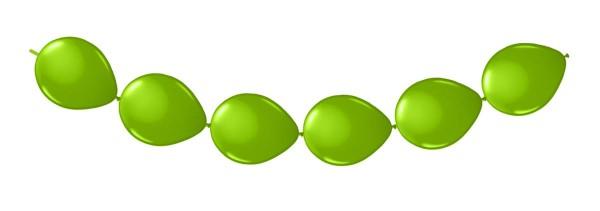 8 ballons verts pour une guirlande 3m