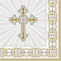 16 Scheinendes Kreuz Servietten 33cm