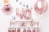 Vista previa: Bola fiesta globo sobre oro rosa 40cm