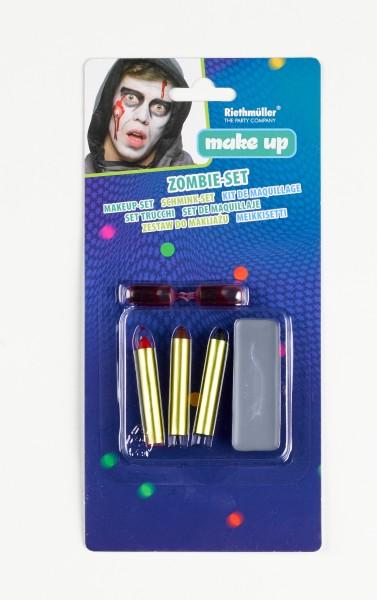 Zombie Schminkstifte Blutkapseln 6-teiliges Set