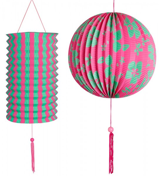 Aloha Party Hanging Decoration Set di 2 pezzi