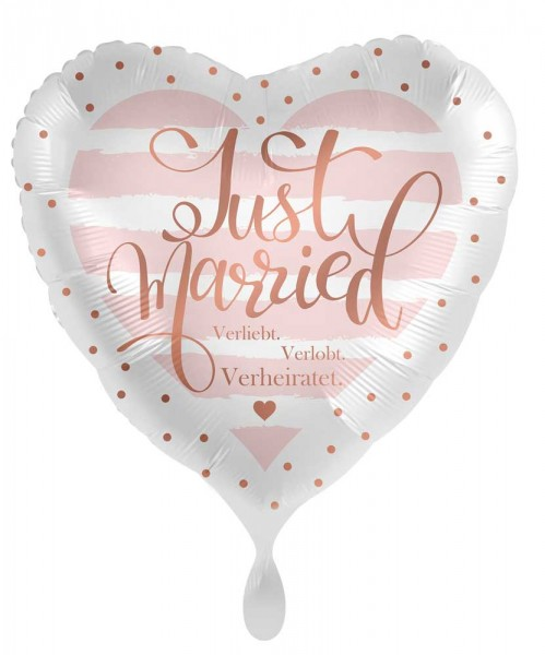 Just Married Herz Folienballon 45cm