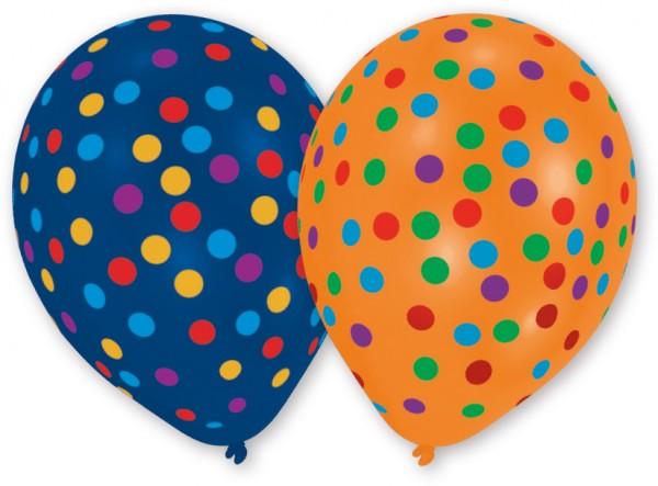 Zestaw 8 kolorowych balonów z konfetti