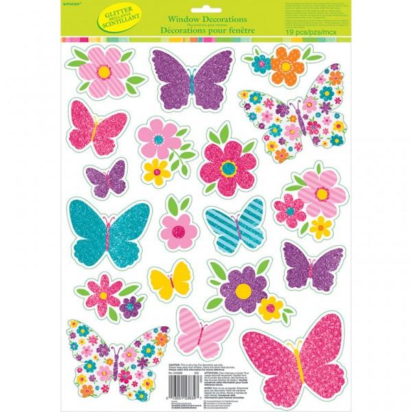 19 Fenstersticker Schmetterlinge im Bauch
