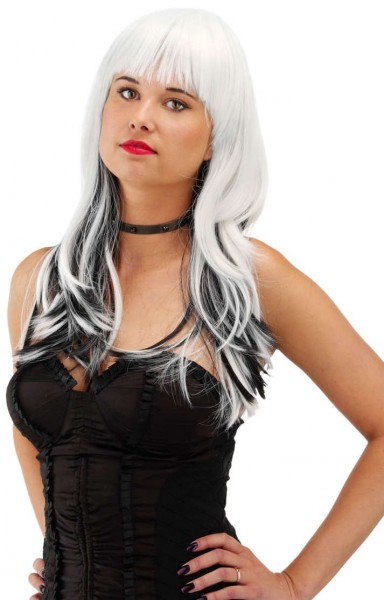 White-Black Under Lights Wig