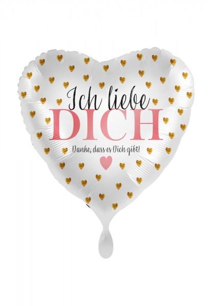 Ich liebe Dich Herz Folienballon 43cm