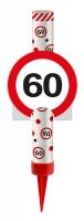 Verkehrsschild 60 Tortenfontäne 12cm