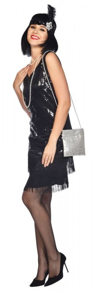 Silberne Pailletten Tasche Caroline