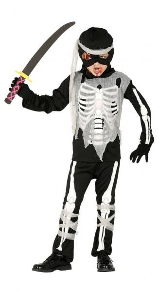 Untoter Ninja Skelett Krieger Kinderkostüm