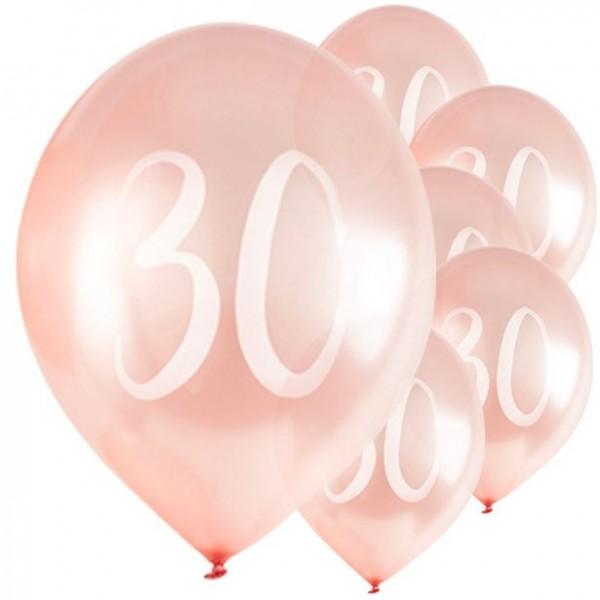 5 ballons 30cm rougissants 30cm