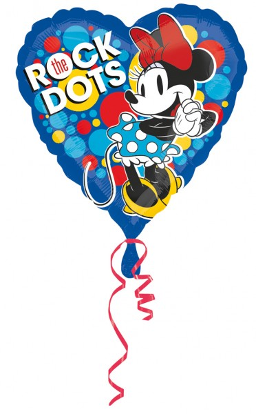 Herzballon Minnie Mouse Rock the Dots
